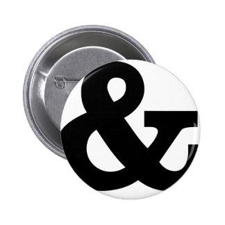 Ampersand Pinback Button