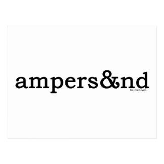 Ampersand Postcard