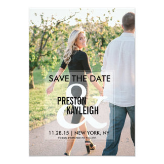 Ampersand Save the Date | Weddings Card