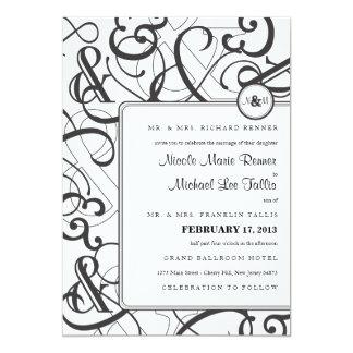 "Ampersand Wedding Invitation 5"" X 7"" Invitation Card"