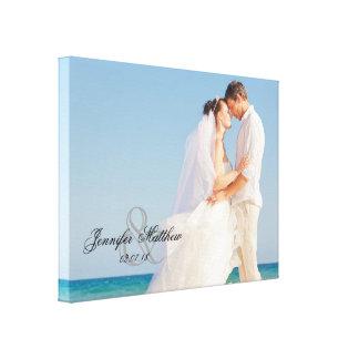 Ampersand Wedding Photo Keepsake Canvas Canvas Print