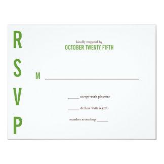 Ampersand Wedding Response 4.25x5.5 Paper Invitation Card