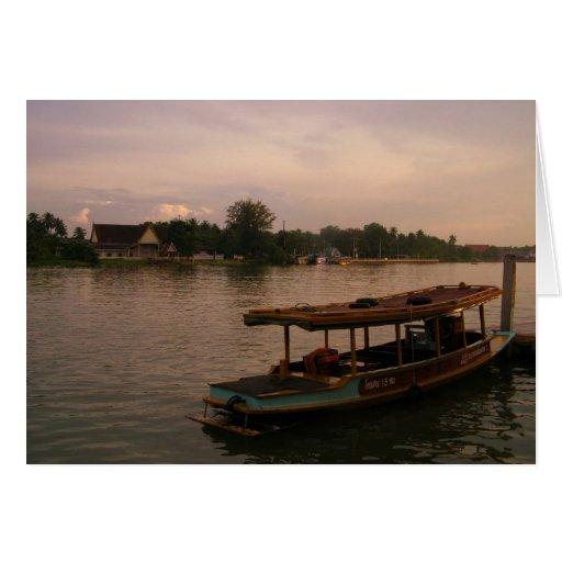 Amphawa River,Thailand Greeting Cards