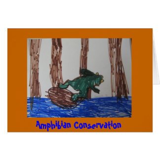 Amphibian Conservation Card
