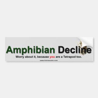 Amphibian Decline Car Bumper Sticker