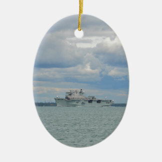 Amphibious Assault Ship Ocean Ceramic Ornament