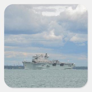 Amphibious Assault Ship Ocean Square Sticker