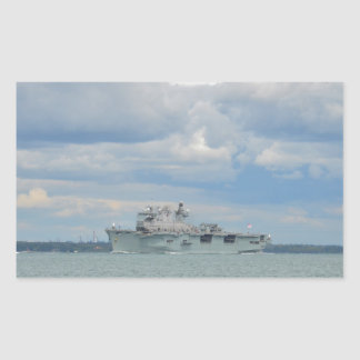 Amphibious Assault Ship Ocean Rectangular Sticker