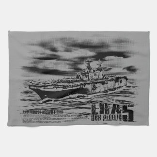 Amphibious assault ship Peleliu Dawsonsf kitchent Towel