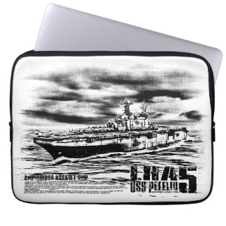Amphibious assault ship Peleliu Fuji electronicsb Laptop Sleeve