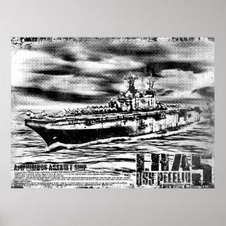 Amphibious assault ship Peleliu Print