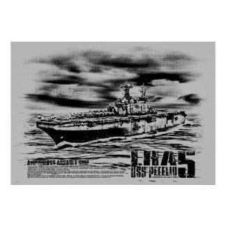 Amphibious assault ship Peleliu Print