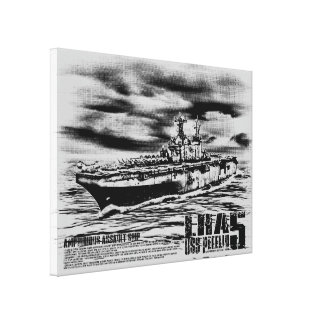 Amphibious assault ship Peleliu Wrappedcanvas Canvas Print