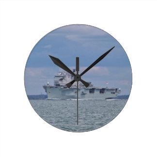 Amphibious Assault Ship Wall Clock