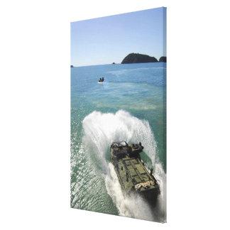 Amphibious Assault vehicles exit the well deck Canvas Print