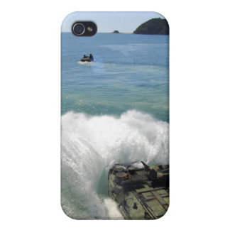Amphibious Assault vehicles exit the well deck iPhone 4 Cases