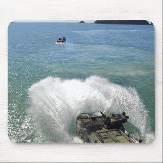Amphibious Assault vehicles exit the well deck Mouse Pad