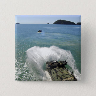 Amphibious Assault vehicles exit the well deck Pinback Button