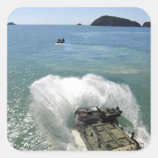 Amphibious Assault vehicles exit the well deck Square Sticker