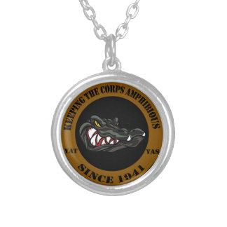 Amphibious Since 1941 Round Pendant Necklace