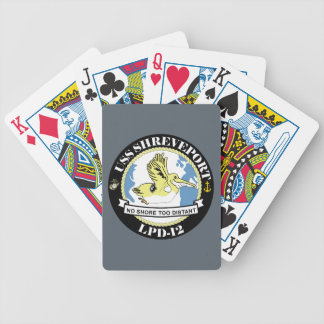 Amphibious Transport Dock LPD-12 - USS Shreveport Bicycle Playing Cards
