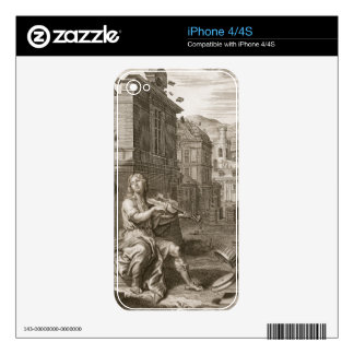 Amphion Builds the Walls of Thebes by the Music of Skin For iPhone 4S