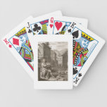 Amphion construye las paredes de Thebes por la mús Baraja Cartas De Poker