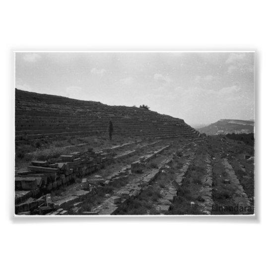 Amphitheater Limestone Quarry in the Crimea Photo Print
