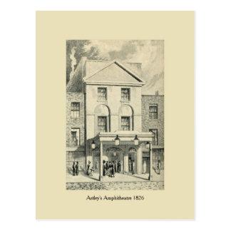 Amphitheatre 1826 de Londres Astley antiguo Postal