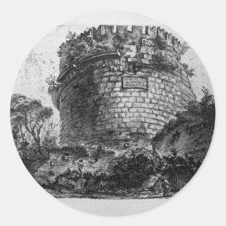 Amphitheatre of Verona Giovanni Battista Piranesi Classic Round Sticker