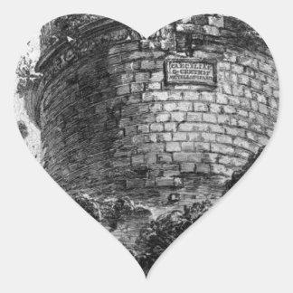 Amphitheatre of Verona Giovanni Battista Piranesi Heart Sticker