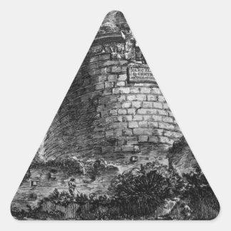 Amphitheatre of Verona Giovanni Battista Piranesi Triangle Sticker