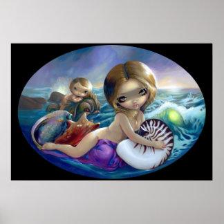 Amphitrite ART PRINT mermaid sea goddess lowbrow