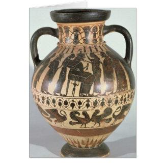 Amphora del Corinthian del ático Tarjeta De Felicitación