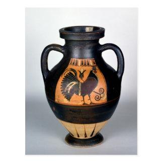 Amphora depicting a cockerel, Corinthian Style Postcard