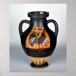 Amphora depicting a cockerel, Corinthian Style Poster