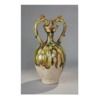 Amphora with handles in the form of dragon print