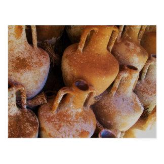 Amphoras del griego clásico tarjeta postal