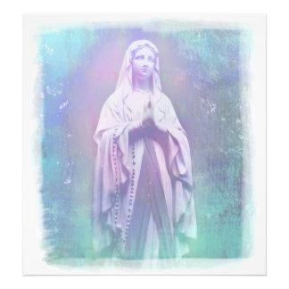 Ampliación bendecida de la foto del Virgen María