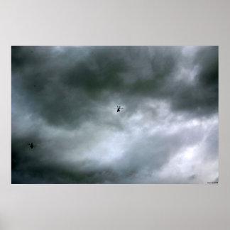 Ampliación de foto del cartel de los helicópteros impresiones