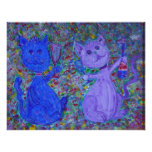 Ampliación de foto - gatos enérgicos que pintan po impresiones