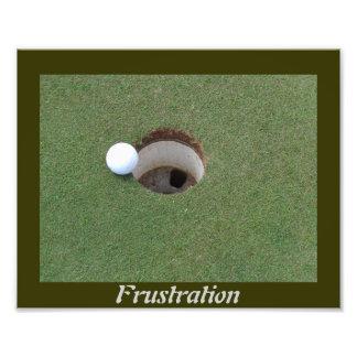 Ampliación de la foto de la frustración del golf