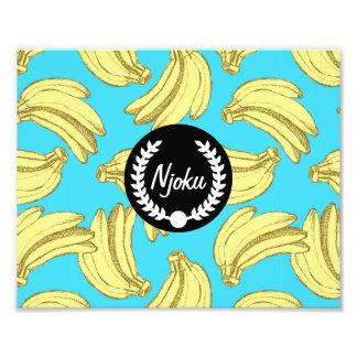 Ampliación de la foto de la impresión del plátano fotografía