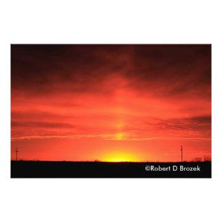 Ampliación de la foto de la puesta del sol de cojinete