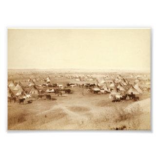 Ampliación de la foto del campo de Lakota