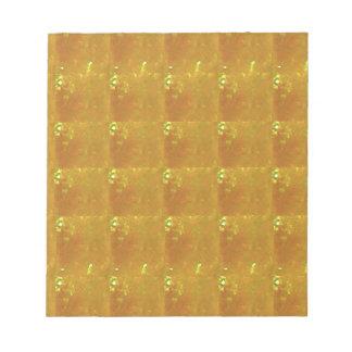 Ampliación de oro HealingSTONE del CRISTAL 2000X Bloc De Notas