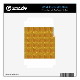 Ampliación de oro HealingSTONE del CRISTAL 2000X Calcomanías Para iPod Touch 4G
