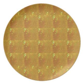 Ampliación de oro HealingSTONE del CRISTAL 2000X Platos Para Fiestas