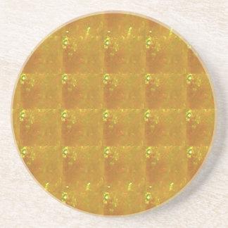 Ampliación de oro HealingSTONE del CRISTAL 2000X Posavasos De Arenisca