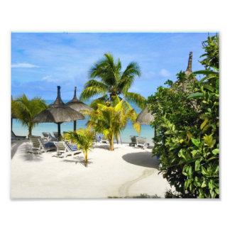 Ampliación tropical exótica de la foto de la playa